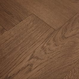 Oak Herringbone Rustic Dark Brown